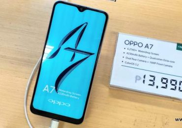 Here's the OPPO A7 in the flesh