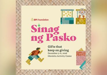 Go cashless shopping with QR code at the BPI Sinag ng Pasko at the Glorietta Mall