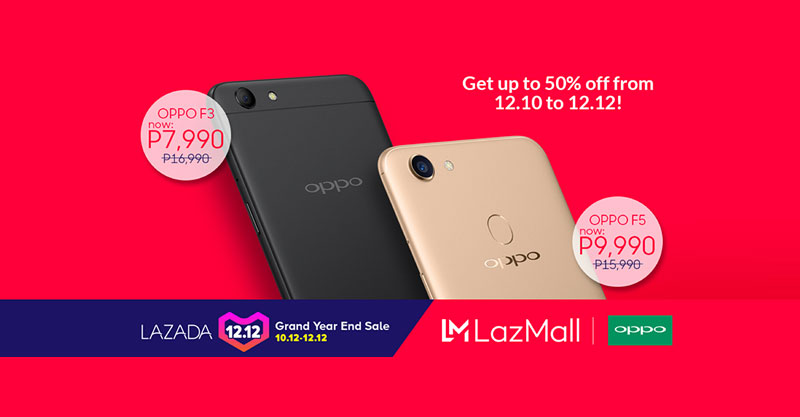 Enjoy huge discount on OPPO F3 and F5 at Lazada 12.12 Sale
