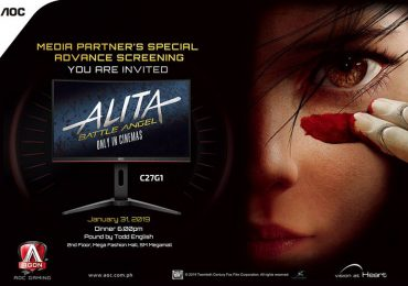 AOC partners with Twentieth Century Fox to Promote Release of Alita: Battle Angel