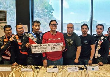 Angkas joined Rider Groups to oppose Doble Plate law