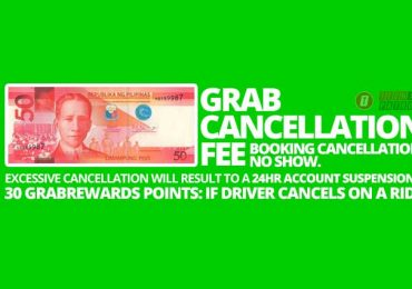 Grab will charge you P50 for cancelling a booking or a No-show within 5 minutes