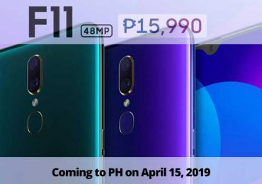It is P15,990 for the OPPO F11; coming in PH on April 15