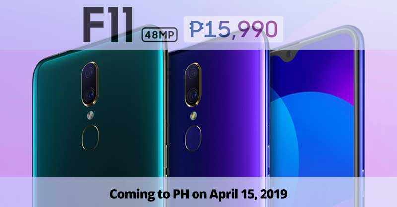 Photo of It is P15,990 for the OPPO F11; coming in PH on April 15