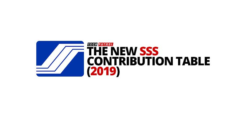 SSS Contribution Table 2019
