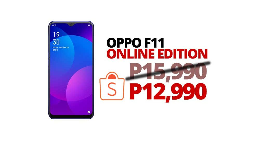 OPPO F11 Online Exclusive: P12,990 only!