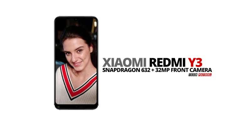 Redmi Y3: Specs, Price, Availability