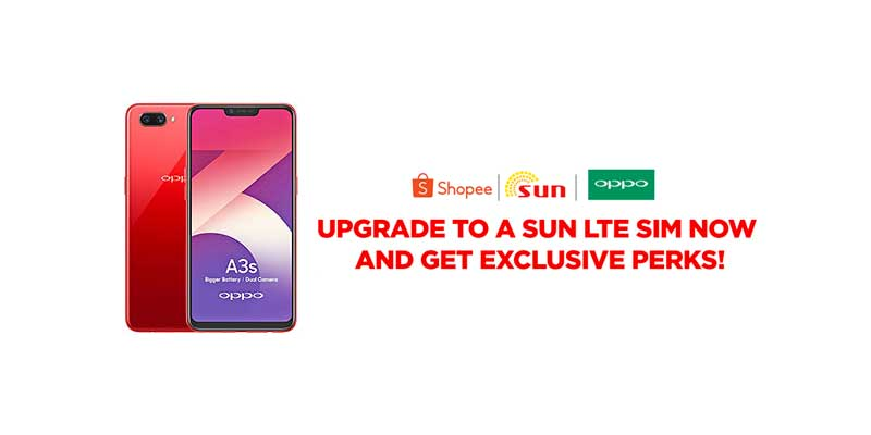 Photo of Just do an upgrade or a switch to SUN LTE SIM and you could win OPPO A3s