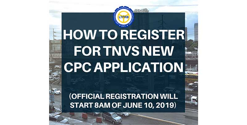Photo of HOW TO Register for TNVS NEW CPC Application
