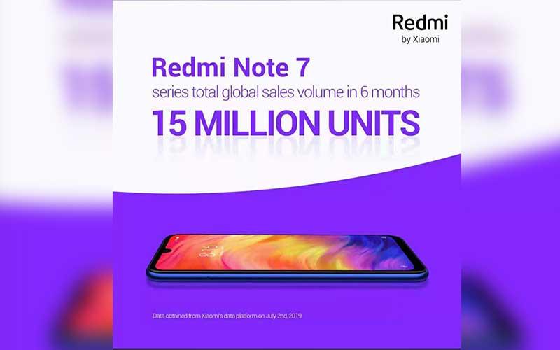 Xiaomi's Redmi Note 7 sold 15M units