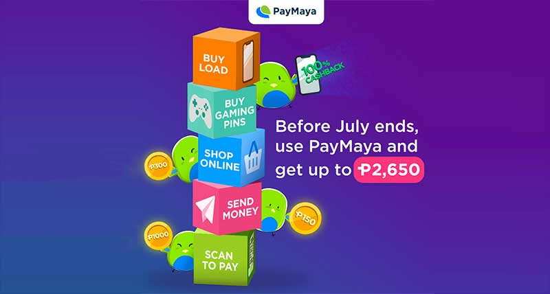 Get much as P2650 in cashback and more amazing perks from PayMaya