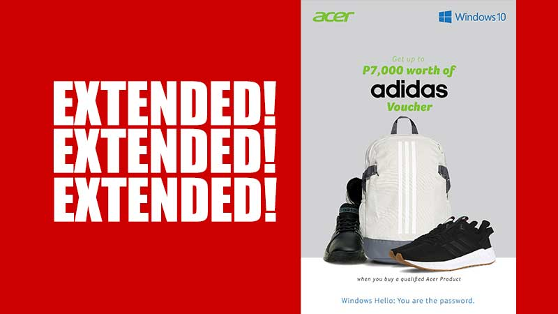 ACER X ADIDAS Back-to-School Promo 2019 is Extended!