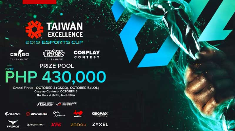 Taiwan Excellence 2019 Esports Cup raises prize pool to P430k