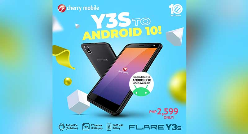 Flare Y3S Android 10
