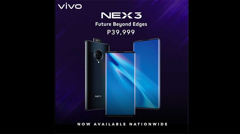 Photo of VIVO Flagship NEX 3 now available in all Vivo stores, Lazada and Shopee