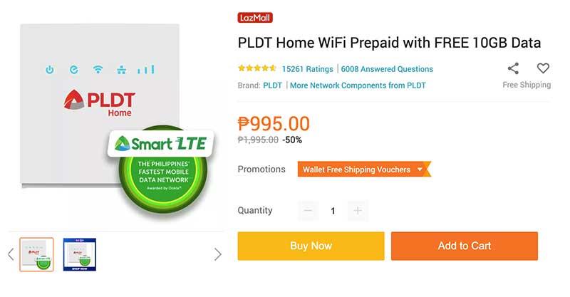 PLDT Home Prepaid WiFi Lazada