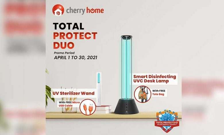 Cherry Home Smart UVC Disinfecting Desk Lamp