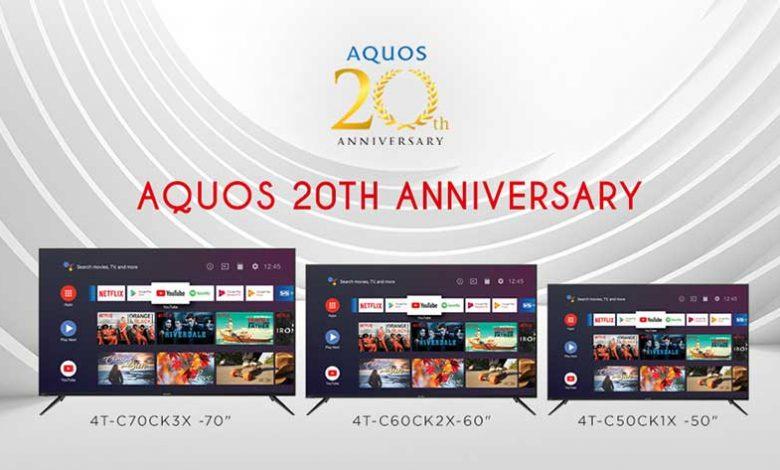 sharp aquos 20th anniversary