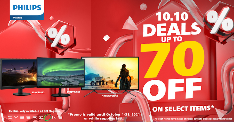 Philips Monitors Offer Markdown Prices during  SM Megamall's 2021 Cyber Month Gadget Sale